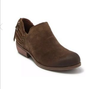 Korks Brown Genuine Leather Suede Ankle Boot NEW 8